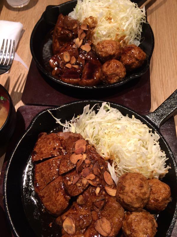 東京トンテキ・トンテキ定食並&大比較