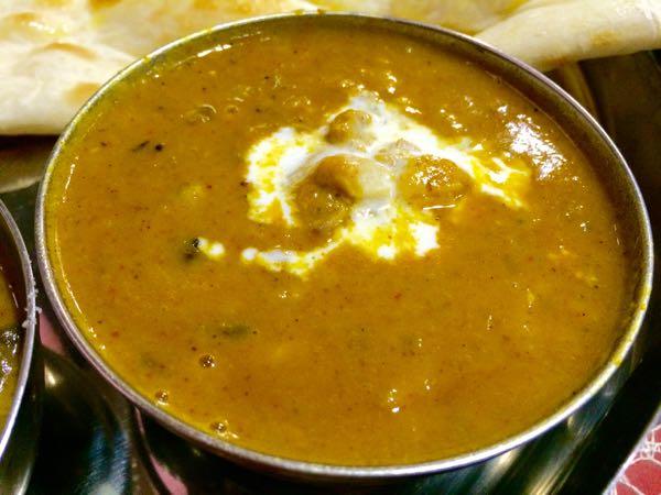prasadi-ダールとチキンのカレー