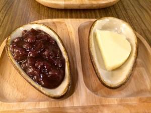 うさパンケーキのあんこ&バター