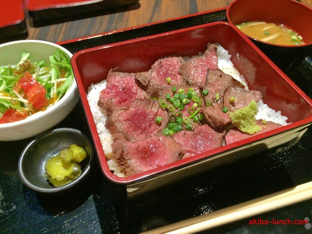 ステーキハウス听・熟成和牛のステーキ重セット