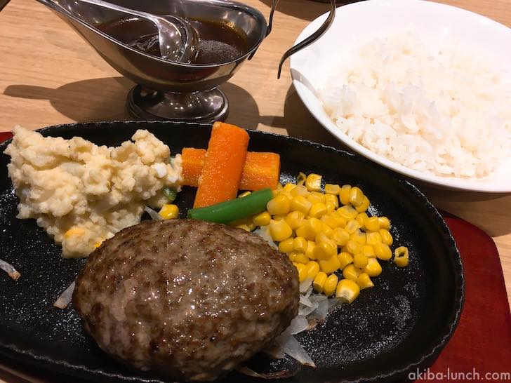 北海道産牛ハンバーグステーキ全体